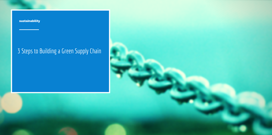 Green supply chain article