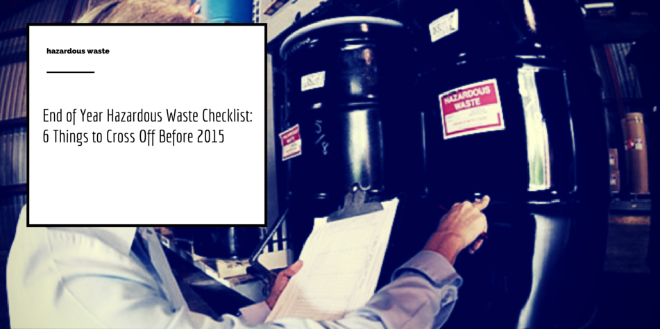 hazardous waste checklist article