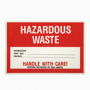 Hazardous Waste Warning Sign