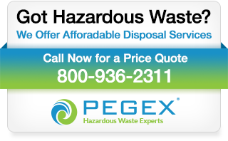 PegEx hazardous waste disposal blog banner ad