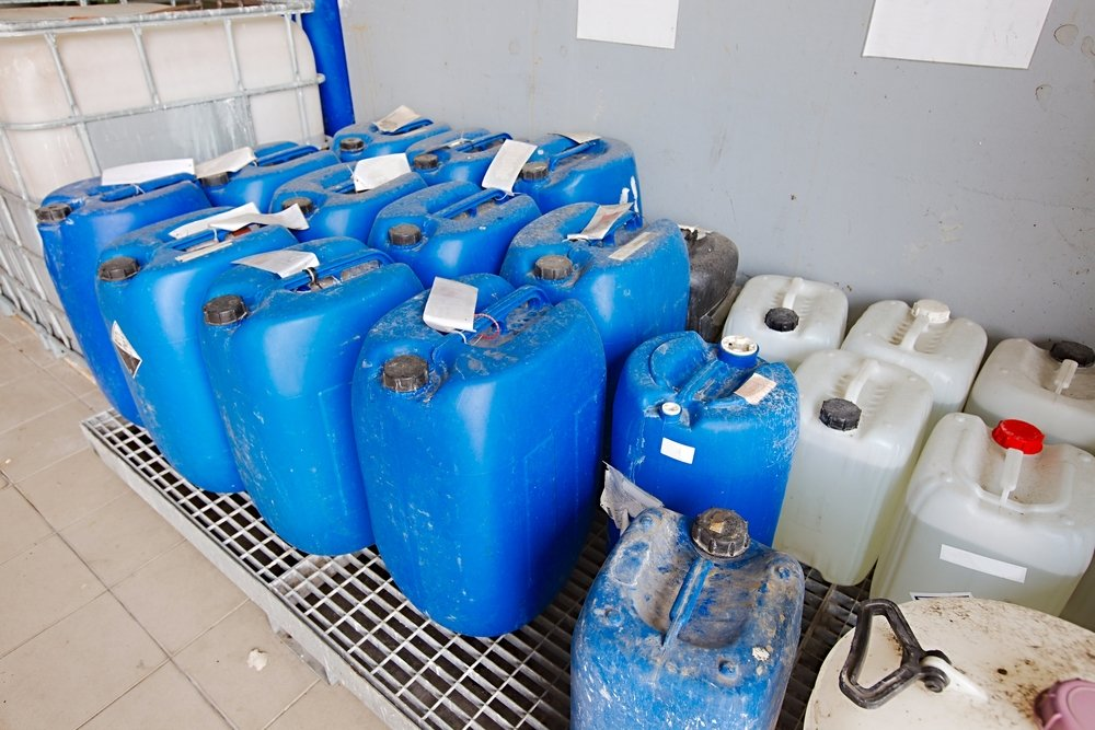 chemical waste containers