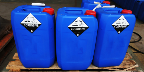 containers of chemical waste