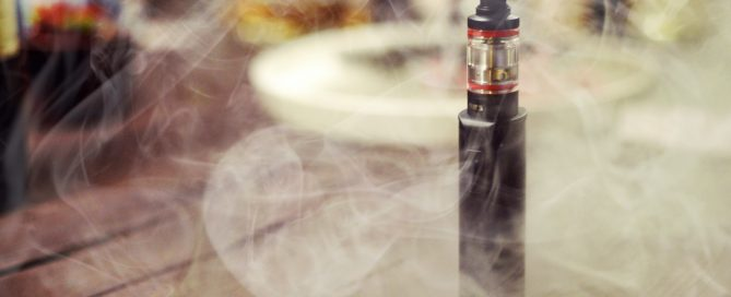Electronic Cigarette/E-Cigarette in smoke